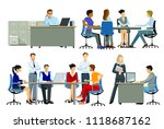 office workplace  group of... | Shutterstock .eps vector #1118687162