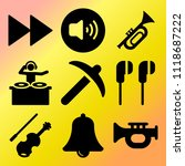 vector icon set  about music... | Shutterstock .eps vector #1118687222