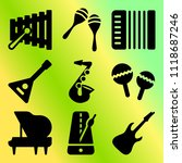 vector icon set  about music... | Shutterstock .eps vector #1118687246