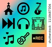 vector icon set  about music... | Shutterstock .eps vector #1118687306