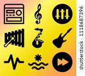vector icon set  about music... | Shutterstock .eps vector #1118687396