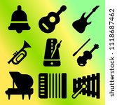 vector icon set  about music... | Shutterstock .eps vector #1118687462
