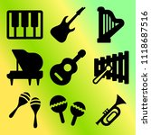 vector icon set  about music... | Shutterstock .eps vector #1118687516