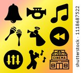 vector icon set  about music... | Shutterstock .eps vector #1118687522