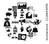 commercials icons set. simple... | Shutterstock .eps vector #1118693096