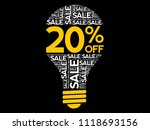 20  off sale bulb word cloud... | Shutterstock .eps vector #1118693156