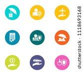 monetary treatment icons set.... | Shutterstock .eps vector #1118693168