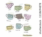 vector set of coffee cup desing | Shutterstock .eps vector #1118694878