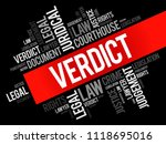 verdict word cloud collage ... | Shutterstock .eps vector #1118695016
