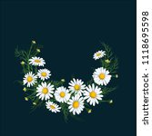 wreath of chamomile flower on... | Shutterstock .eps vector #1118695598