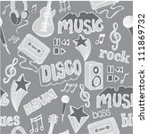 seamless music doodles... | Shutterstock .eps vector #111869732