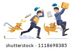the danger of being a delivery... | Shutterstock .eps vector #1118698385