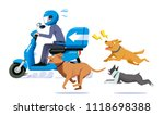 the danger of being a delivery... | Shutterstock .eps vector #1118698388