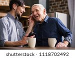 glad to talk to you. cheerful... | Shutterstock . vector #1118702492
