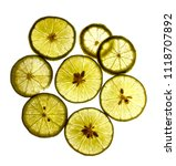 some lime slices on white | Shutterstock . vector #1118707892