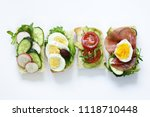 sandwiches with different... | Shutterstock . vector #1118710448