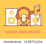 audio and music icons | Shutterstock .eps vector #1118711216