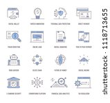 fintech industry icons | Shutterstock .eps vector #1118713655
