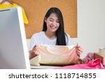 online seller business woman... | Shutterstock . vector #1118714855