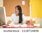 online seller business woman... | Shutterstock . vector #1118714858