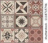 seamless ceramic tile with... | Shutterstock .eps vector #1118715746