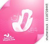 sanitary napkin vector... | Shutterstock .eps vector #1118728445
