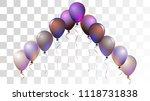 bright realistic helium vector... | Shutterstock .eps vector #1118731838