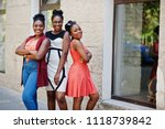 three stylish african american... | Shutterstock . vector #1118739842