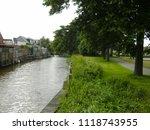 dutch waterway  bolsward ... | Shutterstock . vector #1118743955