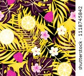 tropical seamless pattern with... | Shutterstock .eps vector #1118745842
