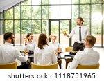 business people dressed in... | Shutterstock . vector #1118751965