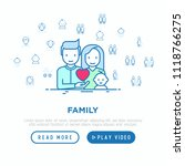 family concept  young couple... | Shutterstock .eps vector #1118766275