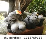 model three of smile buffalos... | Shutterstock . vector #1118769116