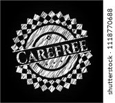 carefree on chalkboard | Shutterstock .eps vector #1118770688