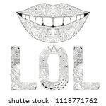 hand painted art design. hand... | Shutterstock .eps vector #1118771762
