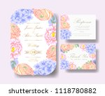 wedding floral invitation with  ... | Shutterstock .eps vector #1118780882