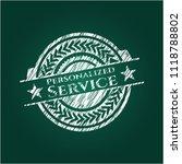 personalized service chalkboard ... | Shutterstock .eps vector #1118788802