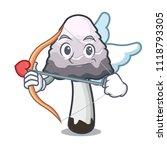 cupid shaggy mane mushroom...   Shutterstock .eps vector #1118793305