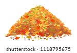 Pile Of Fallen Leaves