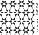 lace monochrome seamless... | Shutterstock . vector #1118796362