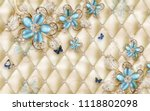 3d wallpaper design with floral ... | Shutterstock . vector #1118802098