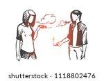 vape  e cigarette  girl  smoke... | Shutterstock .eps vector #1118802476