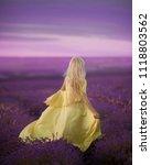 girl in a lavender field | Shutterstock . vector #1118803562