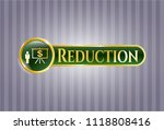gold shiny badge with business ... | Shutterstock .eps vector #1118808416