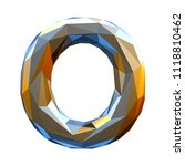 capital latin letter o in low... | Shutterstock . vector #1118810462
