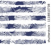 tropical pattern  palm leaves... | Shutterstock .eps vector #1118810738