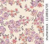 floral seamless pattern. flower ... | Shutterstock .eps vector #1118816735