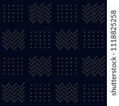 simple geometric motif. flat... | Shutterstock . vector #1118825258