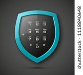 shield with electronic... | Shutterstock . vector #1118840648