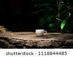 White Coffee Cup With Nature...